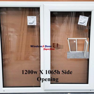 NEW PVC Stock Window 1200w x 1065h Side Opening