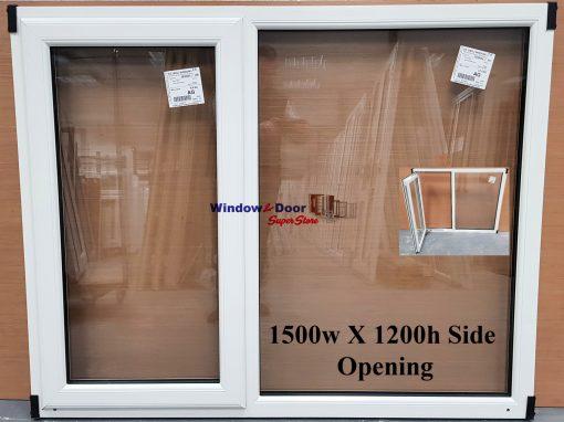 NEW PVC Stock Window 1500w x 1200h Side Opening