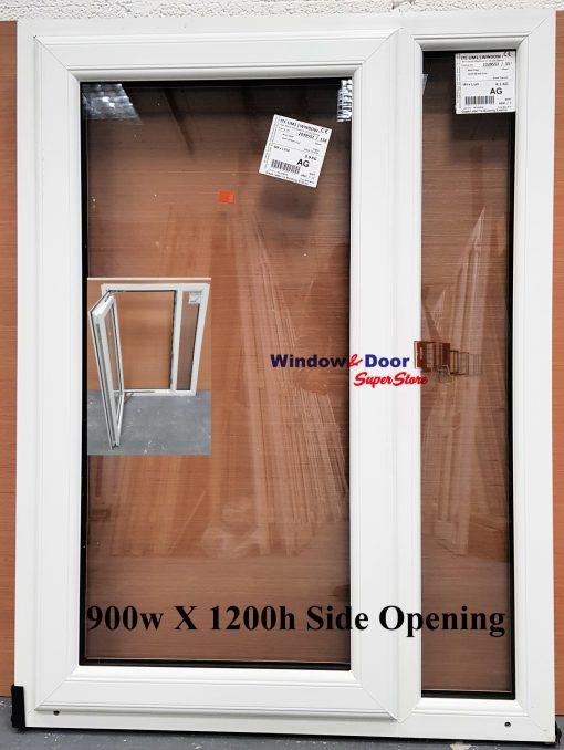 NEW PVC Stock Window 900w x 1200h Side Opening