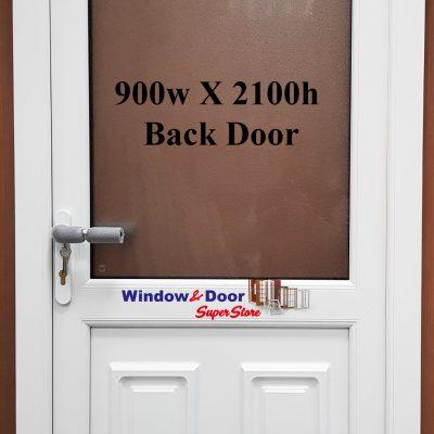 Stock PVC Back Door