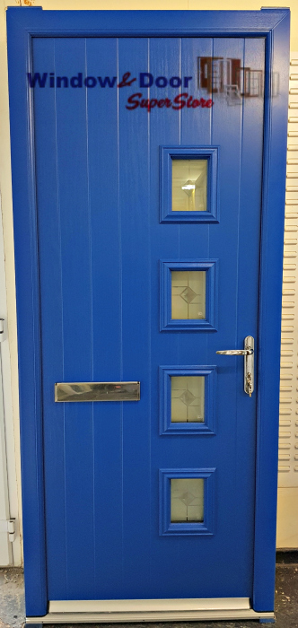 Blue Triple Glazed Composite Door